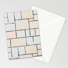 Tile pattern in soft pastel tones Stationery Cards