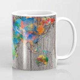 world map wood 6 Coffee Mug