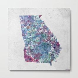 Georgia map Metal Print