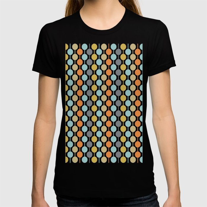 Retro Circles Mid Century Modern Background T-shirt