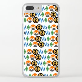 Crypto Pattern Clear iPhone Case