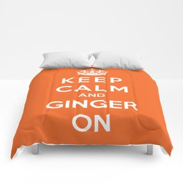Keep Calm And Ginger On Comforters