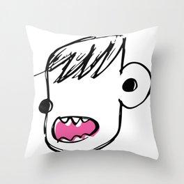 Burp face Throw Pillow
