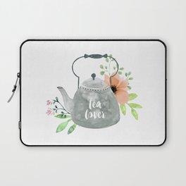 Watercolor Flower Teapot Laptop Sleeve