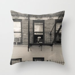 Portrait of a Dog - Urban City Landscape Photography Throw Pillow