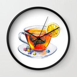 A tea whale Wall Clock