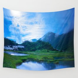 Stormy Japan Alps  Wall Tapestry
