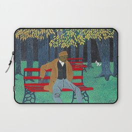 African American Masterpiece 'Man on a Bench' by Horace Pippin Laptop Sleeve