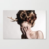 antler Canvas Prints featuring ANTLER by MCGRORY