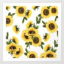 Lovely Sunflower Art Print