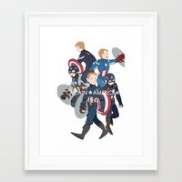 suits Framed Art Prints featuring The suits by Sodam-art