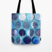 calendar Tote Bags featuring lunar calendar by marella