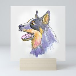 Hand Rendered Dog Mini Art Print