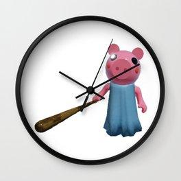 Little Brother Piggy Wall Clock