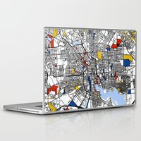 baltimore Laptop & iPad Skins featuring Baltimore Mondrian by Mondrian Maps