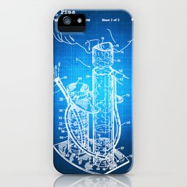 Bong Patent Blueprint Drawing iPhone Case