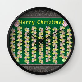 Merry Christmas Wall Clock