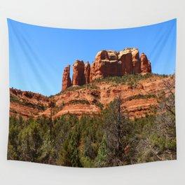 Red Sandstone Rockformation Wall Tapestry