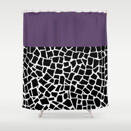 British Mosaic Purple Boarder Shower Curtain