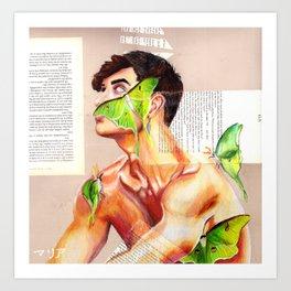 Moth Grayson Dolan Art Print