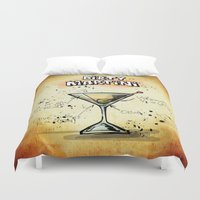 martini Duvet Covers featuring Dirty Martini by jamfoto