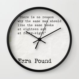 Ezra Pound quote about books Wall Clock