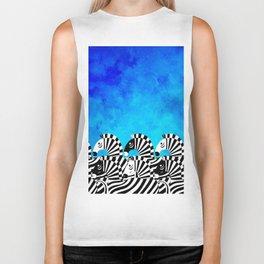Zebras!! Biker Tank