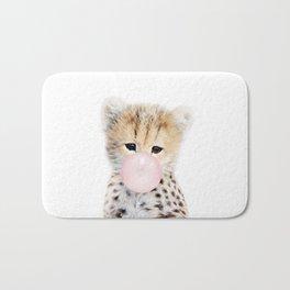 Bubble Gum Cheetah Cub Bath Mat