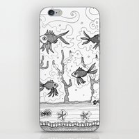 underwater iPhone & iPod Skins featuring Underwater by Condor