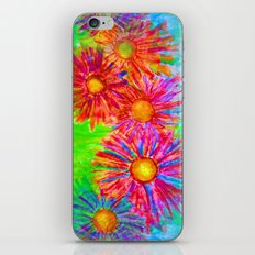 Bright Sketch Flowers iPhone & iPod Skin