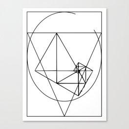 Black line minimalist var2 Canvas Print