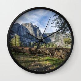 A Fallen Tree in Cook's Meadow Wall Clock