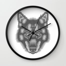 Hex: Lobo Ibérico Wall Clock