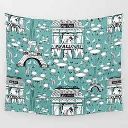 Paris cafe Wall Tapestry