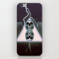 metallic iPhone & iPod Skins featuring Metallic by Elva Salinas