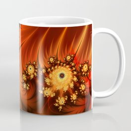 Glowing Fractal, Abstract Art With Warmth Coffee Mug