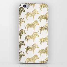 Golden Zebras iPhone Skin