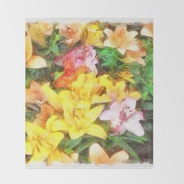 Lilies Love and Light Throw Blanket