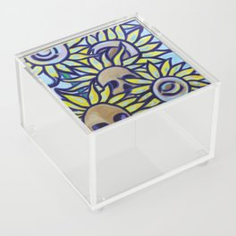 S is for Sunflowers and Skulls Acrylic Box