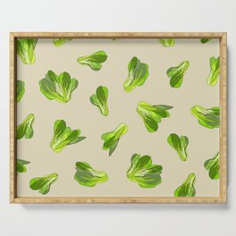 Lettuce Bok Choy Vegetable Serving Tray