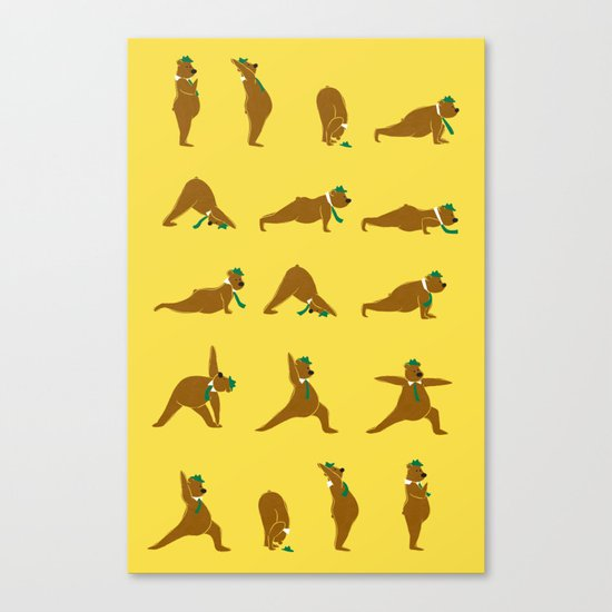 Yoga Bear - Classic Canvas Print