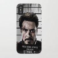 tony stark iPhone & iPod Cases featuring Tony Stark jailed by MkY111