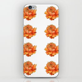 Siberian flower pattern iPhone Skin