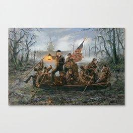 Crossing the Swamp DonaldTrump Art Print Jon McNaughton Canvas Print