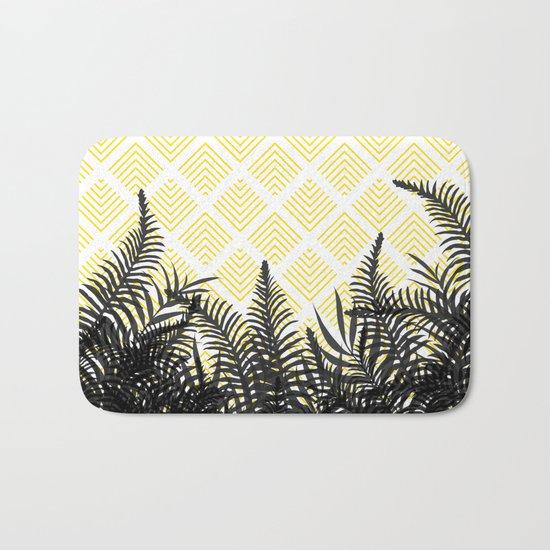 Tropical Ferns on Pattern #society6 #decor #buyart Bath Mat