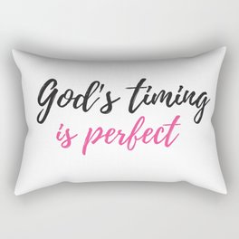 God's timing is perfect,Christian,Bible Quote Rectangular Pillow