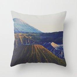 Bromo volcano Throw Pillow
