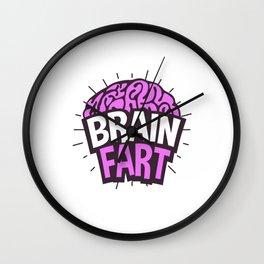 Brain Fart Nerd Intelligent Wall Clock