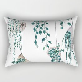 hanging plant in seashell Rectangular Pillow