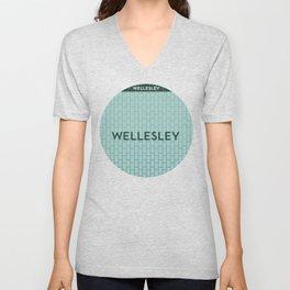 WELLESLEY | Subway Station Unisex V-Neck